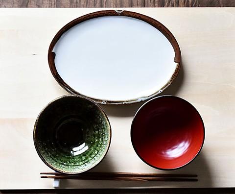 ほたる窯 渕鉄楕円皿