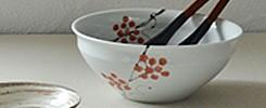 赤い実の盛鉢