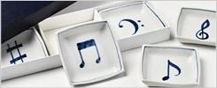 音符角小皿セット