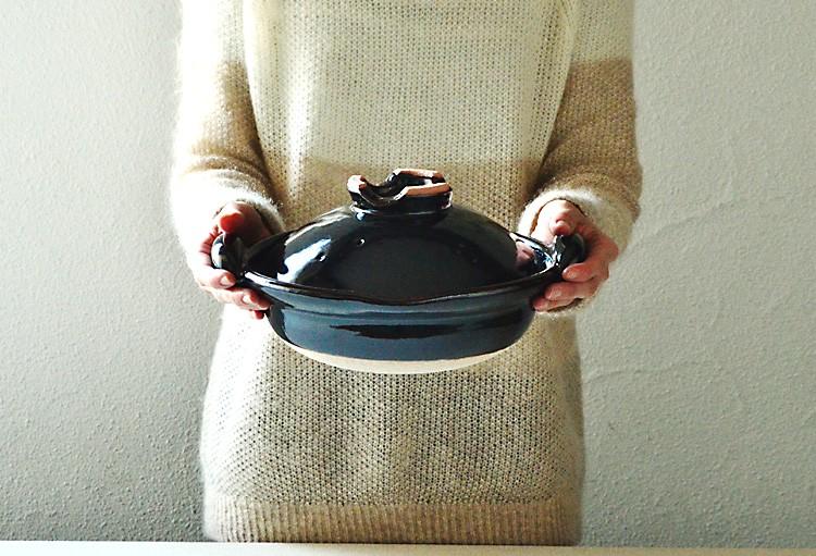 口付黒鍋 8寸