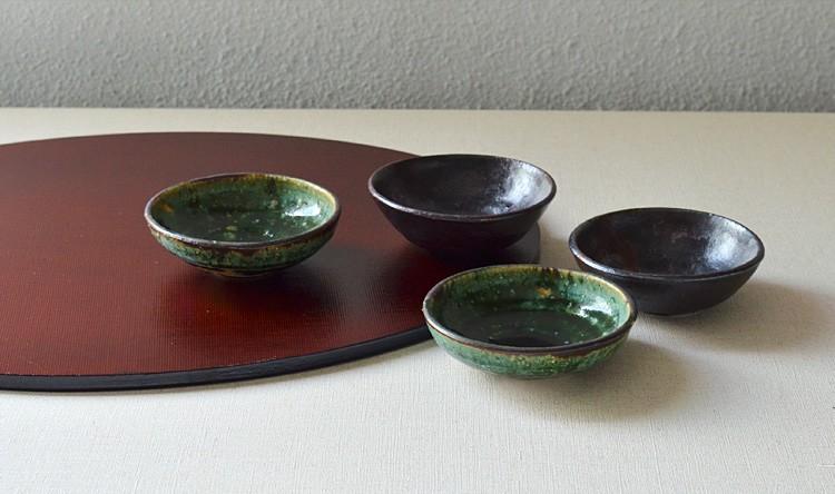 鉄釉3寸鉢