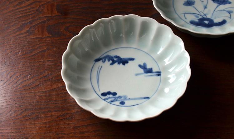 流水兎輪花5.5寸鉢