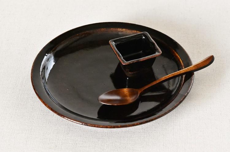 飴釉ミート皿