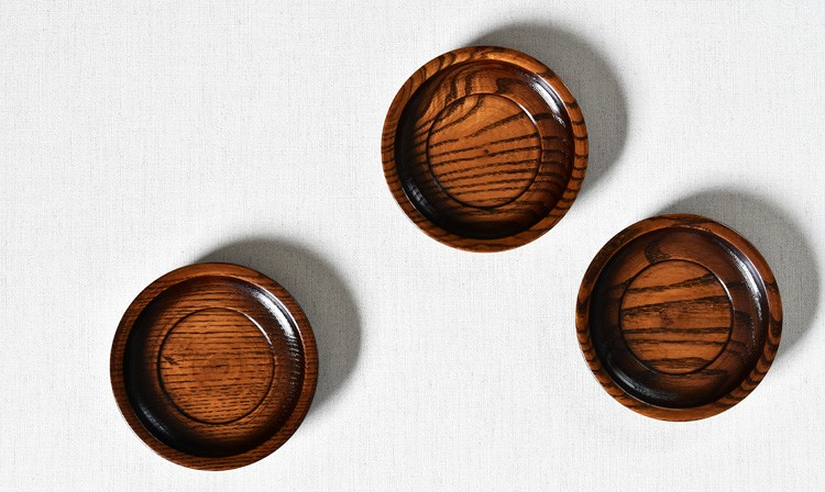 すり漆4.3 厚手茶托