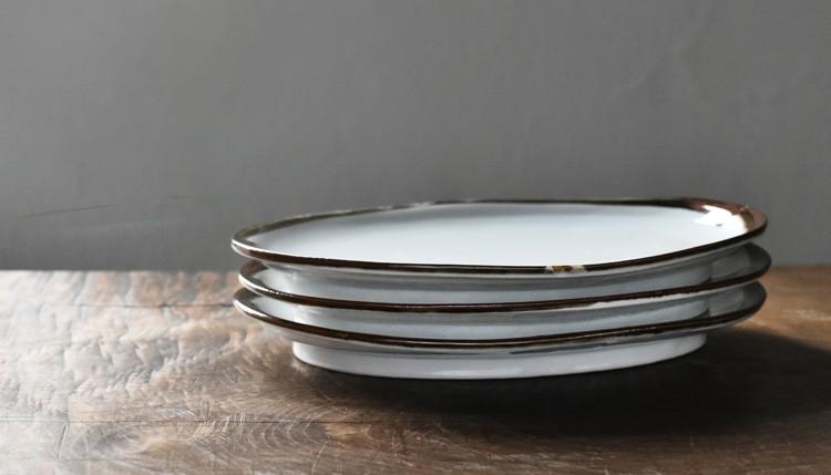 渕鉄楕円皿