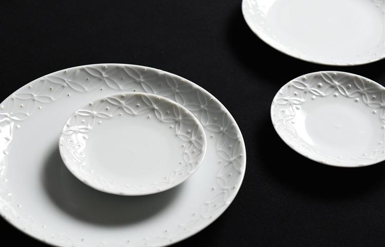 イッチン七宝文3寸皿
