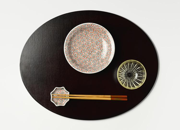 色絵花詰5寸皿