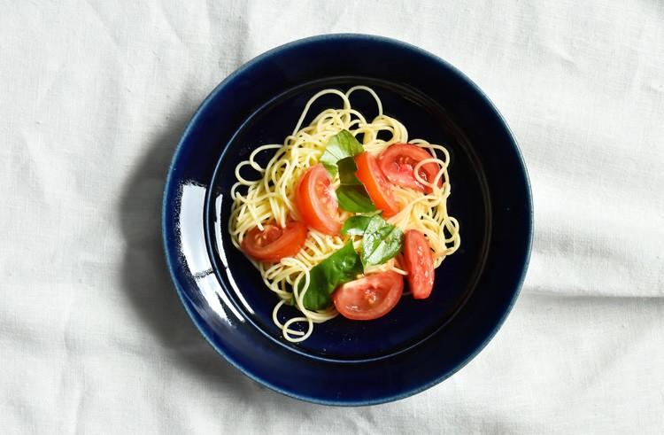 ルリ釉カレー皿(中)