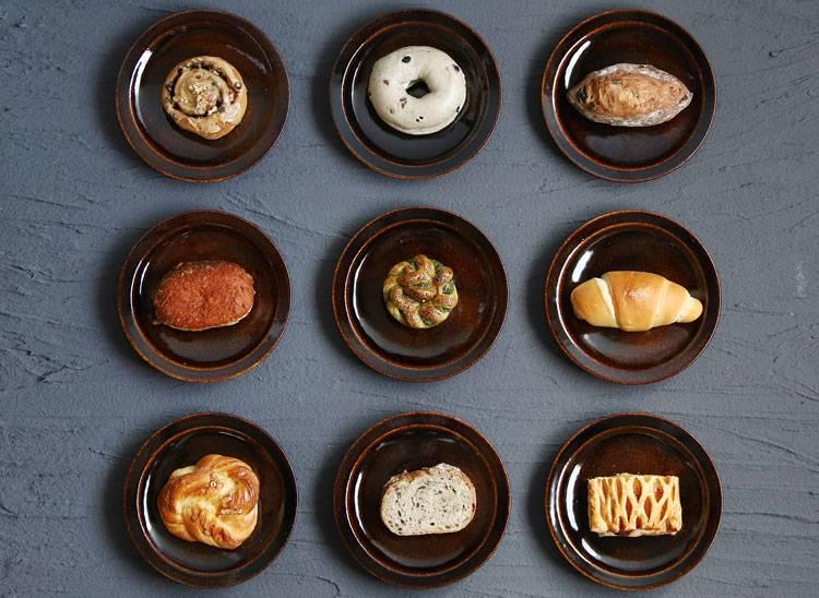 飴釉パン皿