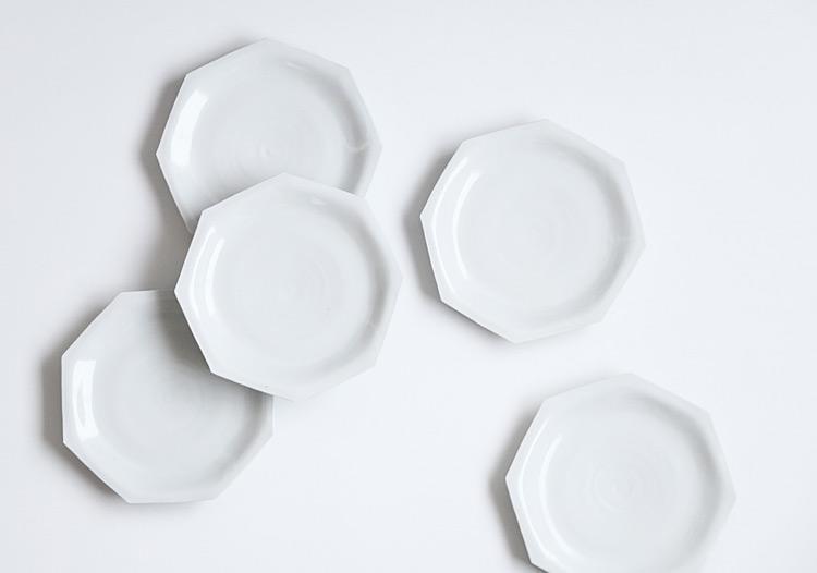 白磁八角皿(大)