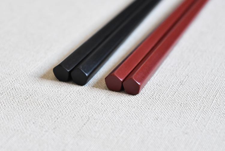 五角箸(黒)