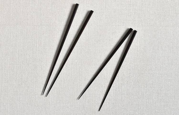 面取箸 総溜(小)