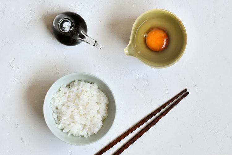 もえぎ卵かけご飯