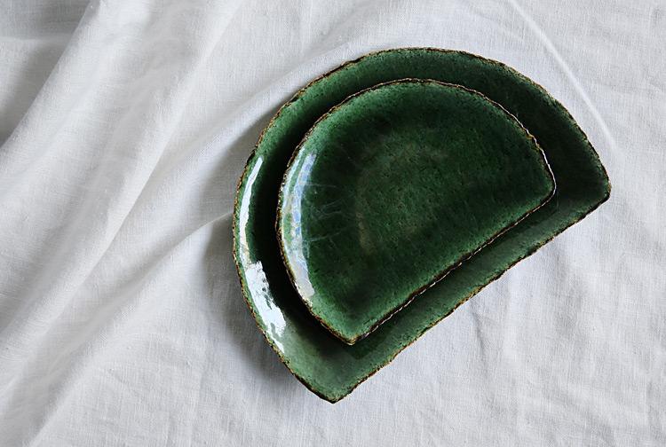 織部半月皿(大)