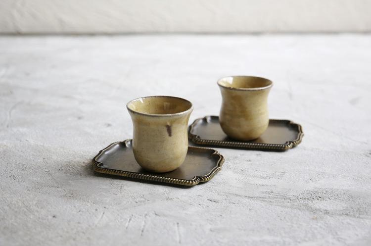 1 黄釉モロッコカップS