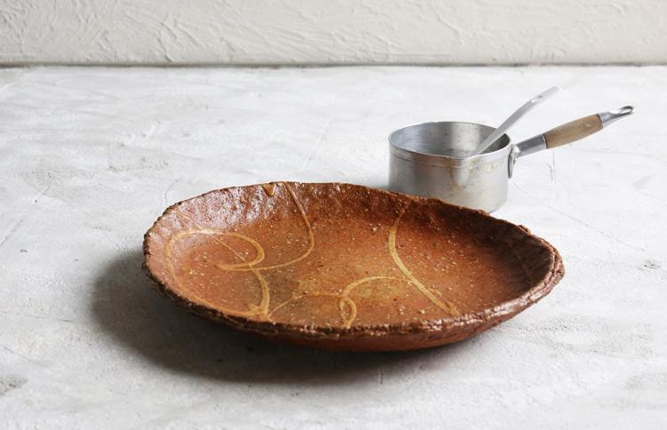 焼〆盛鉢オイルドC