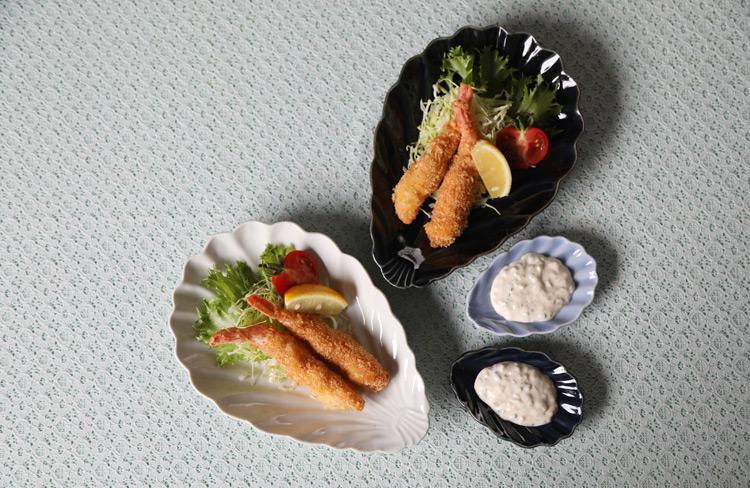 シェル小皿(湖水釉)