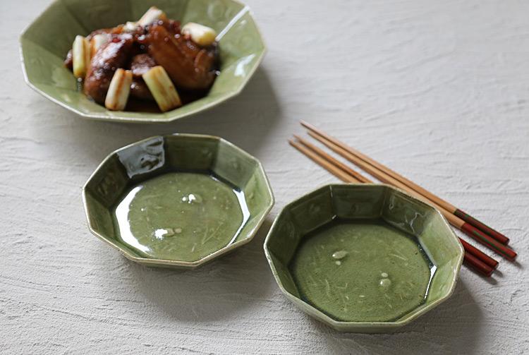 緑釉十角鉢(小)