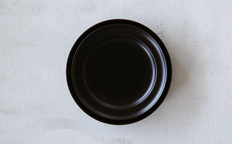 5.3寸平皿 溜 栃