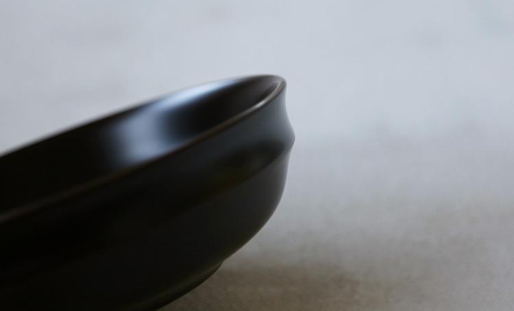 段付平鉢 溜 欅