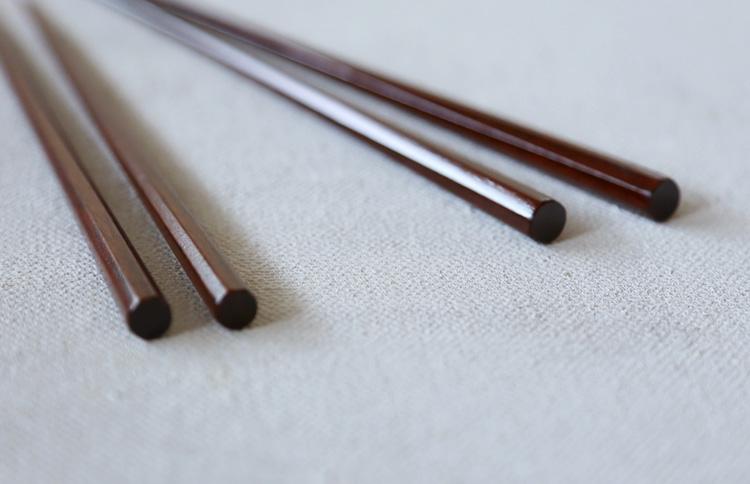 八角箸 摺漆 23.5cm