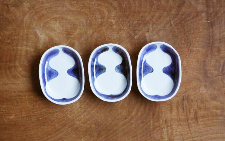ひさご文豆皿