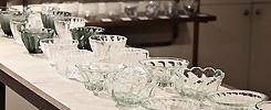 拡大2部構成のガラス展