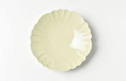 もえぎ花形4.5寸皿