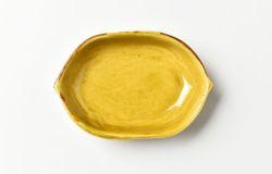 黄磁はなびら小皿