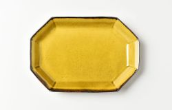 黄磁八角長方皿