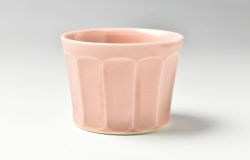 ピンク面取小猪口