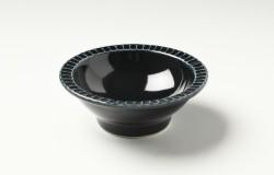 ルリ縁しのぎ3.5寸鉢
