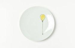 黄色い風船4.5寸皿