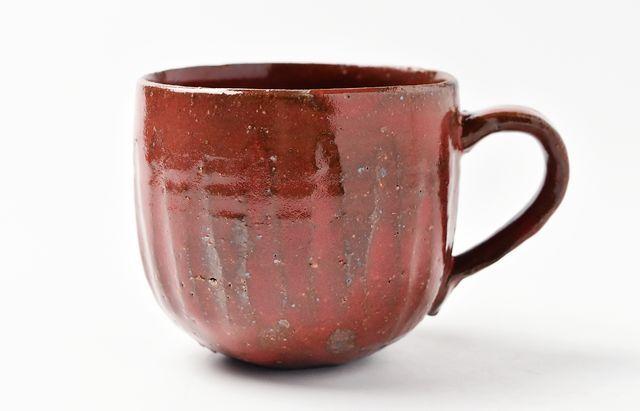 赤釉鎬マグカップ