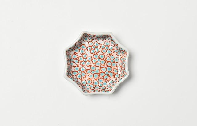 色絵花詰豆皿