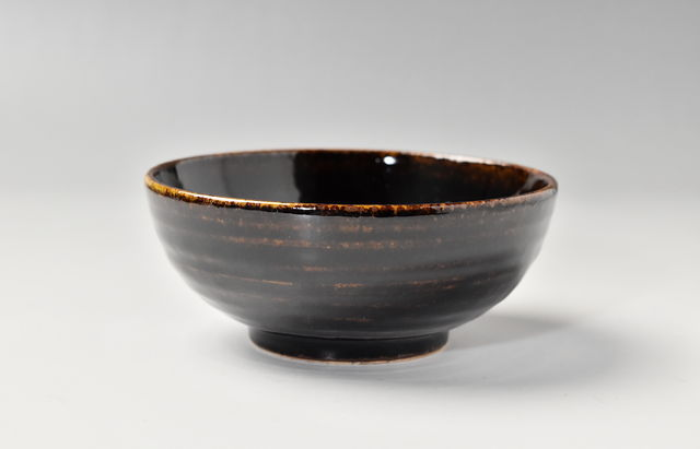 杉本寿樹 アメ釉丸小鉢(4.5寸)