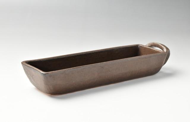 角オーブンパン 片手ロング茶