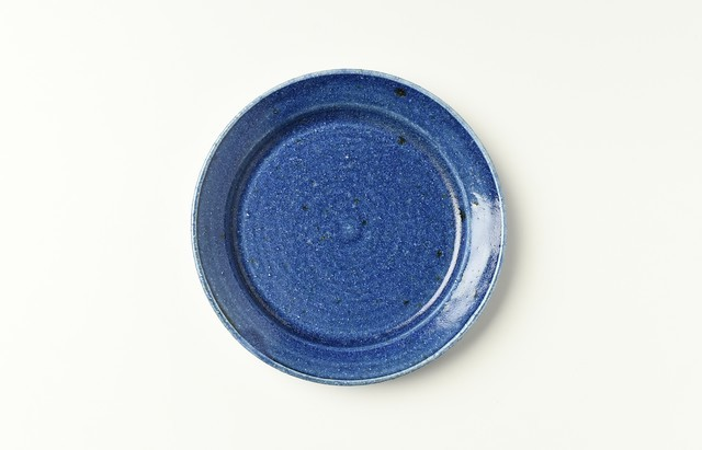 リム皿5寸(ルリ)