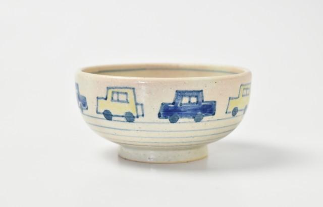 ご飯茶碗(小)くるま(黄・青)